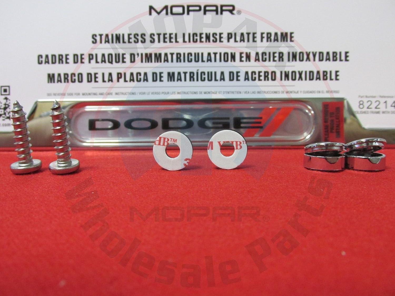 Amazon.com: Dodge Mopar Polished Logo License Plate Frame ...