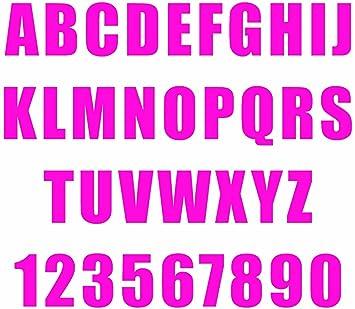 2,5 pulgadas vinilo autoadhesivo Carta Número y Símbolo) Cerse: Amazon.es: Hogar