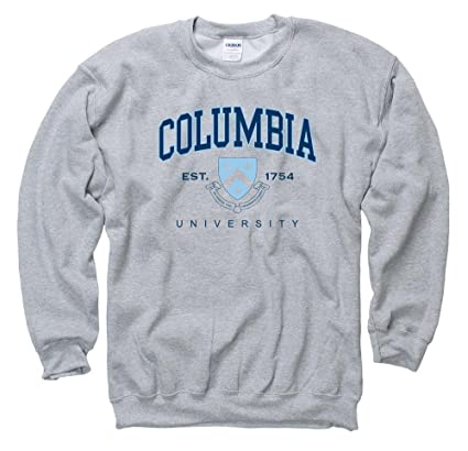 Shop College Wear Columbia University Men's Crew Neck Sweatshirt-Gray