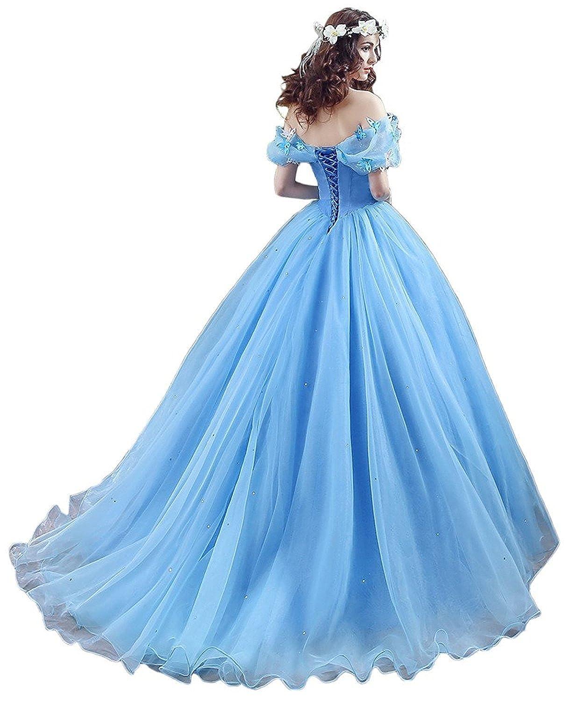 Changuan Off Shoulder Ball Gown Evening Prom Dress Princess Sweet 16 ...