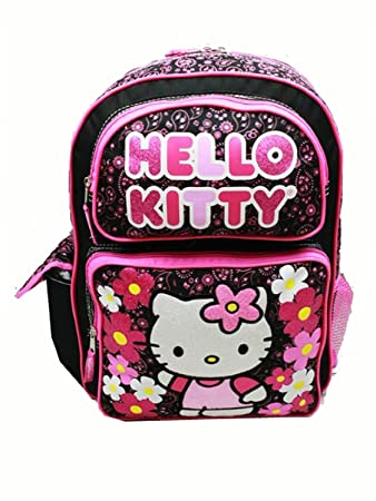 6f82ec047 Image Unavailable. Image not available for. Color: Backpack - Hello Kitty -  Flowers Black (Large ...