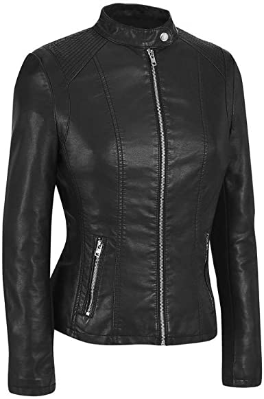 Black Long Sleeve Designer Leather Jacket Women Chase Squad Long Body Faux Leather Jacket Women