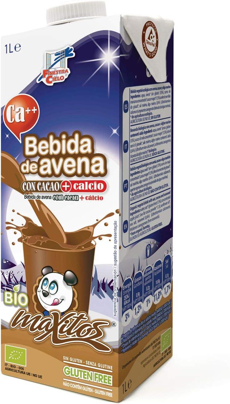 Bebida de avena y cacao BIO - Maxitos - 1L: Amazon.es: Alimentación y bebidas