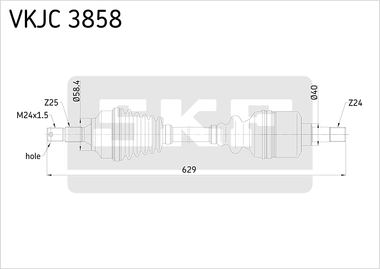 SKF VKJC 3858 Driveshaft kit