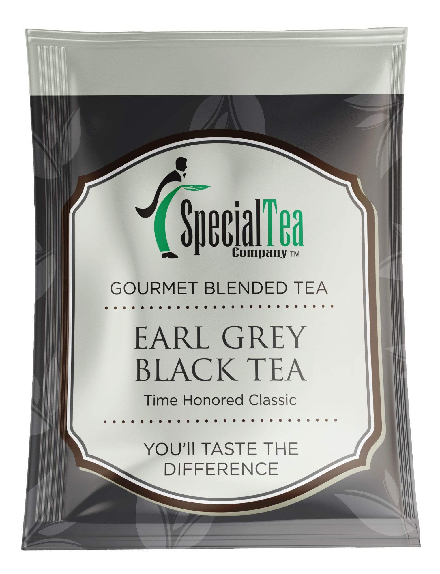 CDM product Special Tea Earl Grey Black Individually Foil Wrapped Tea Bags with String and Tag, 100 Count big image