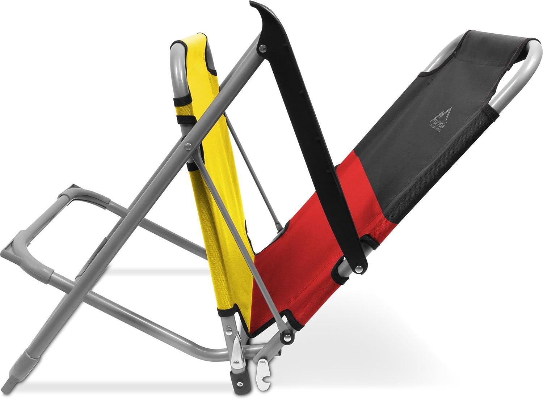 normani Deutschland Campingstuhl Klappstuhl bis 120 Kg Belastbarkeit Schwarz//Rot//Gelb Weltmeister Stuhl