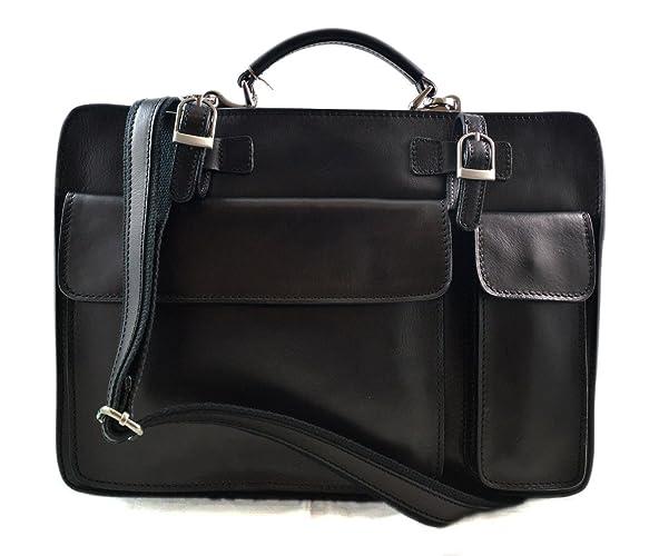 Cartella pelle borsa ufficio uomo donna valigetta 24 ore borsa pelle  messenger a mano e tracolla 6a6d14e6333