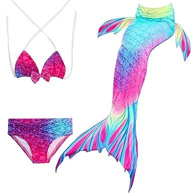 Madchen Meerjungfrauen Bikini Set Schwimmanzug Badeanzuge Bademode