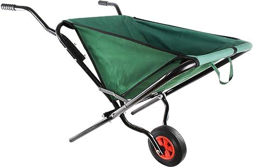UPP® Carretilla Plegable de jardín I Carro doblable para Trabajo de jardinería, Transporte de Hojas, Hierba, Tierra I Carretilla Flexible, 55L, Carga hasta 30kg: Amazon.es: Jardín