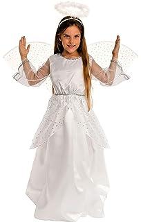 TecTake dressforfun M/ädchenkost/üm himmlisches Engelchen 5-7 Jahre   Nr. 300218 Wundersch/öne Fl/ügel/ärmel und Raffung unter der Brust