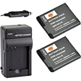 DSTE 2x DMW-BCL7 DMW-BCL7E DMW-BCL7PP Battery + DC144 Travel and Car Charger Adapter for Panasonic Lumix DMC-F5 FH10 FS50 SZ3 SZ9 XS1 XS3 Camera