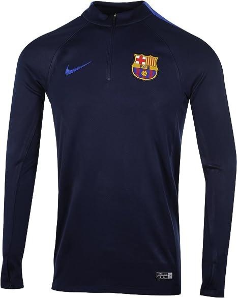 NIKE FCB M Dril Top Sqd Camiseta de Manga Larga FC Barcelona, Hombre: Amazon.es: Ropa y accesorios