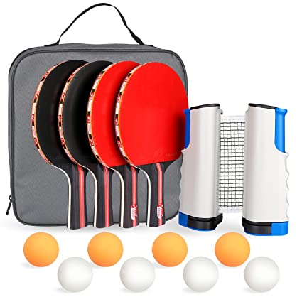 Amazon.com: Fostoy Ping Pong Paddle, Ping Pong Paddles Set ...