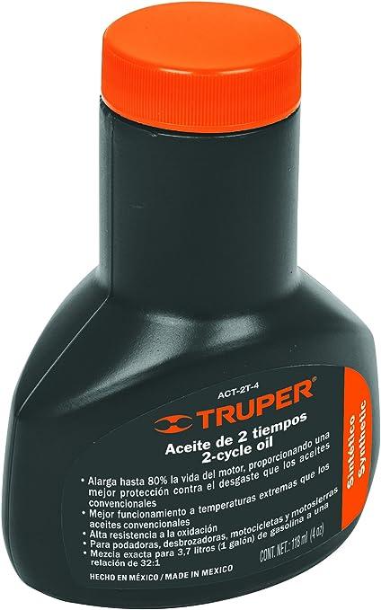 Amazon.com: Aceite sintético de motor de dos tiempos TRUPER ...