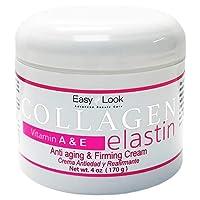 Collagen Elastin Cream Vitamins A & E Anti aging and Firming Cream 4oz