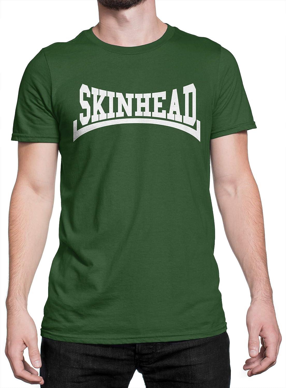 LaMAGLIERIA Camiseta Hombre Skinhead White Print - Camiseta 100% algodòn, S, Verde: Amazon.es: Ropa y accesorios