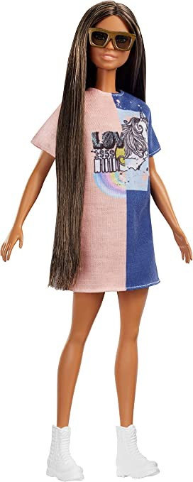 Barbie Fashionistas Doll 104 Blonde Checkered Skirt Deluxe Exclusive Fashionista