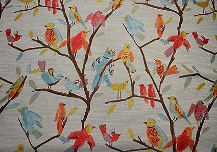 Amazon Com Bright Colors Bird Upholstery Birdseye View Multi