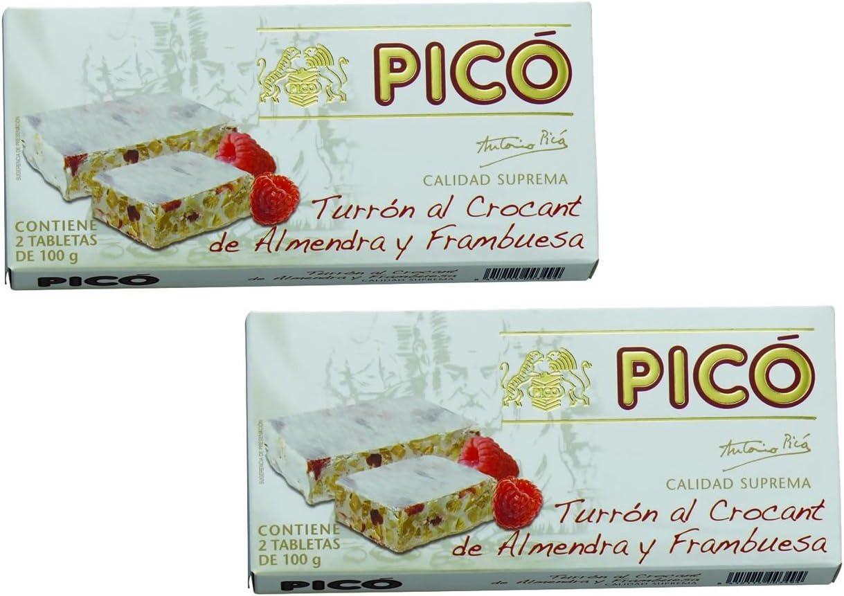 Picó - Pack incluye 2 Turron al crocant de almendras y frambuesas - Turron duro - Calidad suprema 200gr: Amazon.es: Alimentación y bebidas