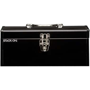 Stack-On SHB-16 16-Inch Multi-Purpose Steel Tool Box, Black