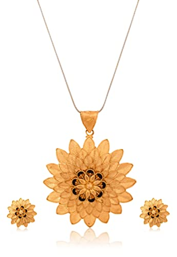 Buy Senco Gold Aura Collection 22k Yellow Gold Jewellery Set Online