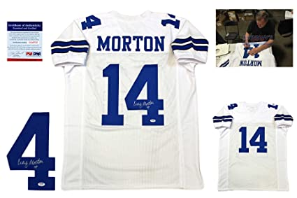 0e55a9097 Craig Morton Signed Custom Jersey - PSA/DNA - Autographed w/ Photo - White