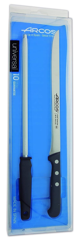 Compra Arcos Universal - Set de cuchillo jamonero y chaira (2pzs) en Amazon.es