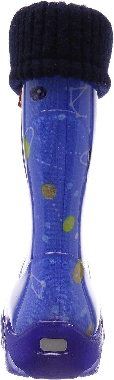 Demar Lux Bright Boys Girls Kids Warm Fleece Lined Wellington Boots Wellies
