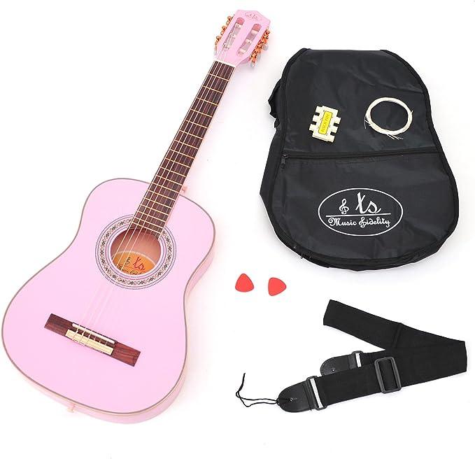 ts-ideen - Guitarra acústica infantil (3/4, para niños de 6 a 12 ...