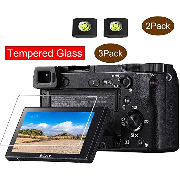 2 Packs RENYD Camera Tempered Glass Film Screen Protector Replacement for Sony Alpha a6400 Mirrorless Camera ILCE-6400L 9H Hardness Protective Waterproof Anti-Scratch Anti-Fingerprints Crystal Clear
