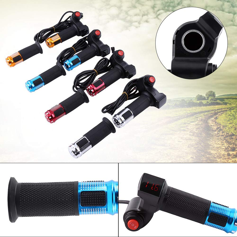 Throttle Grip Handlebar 3 Speed with LED Display Screen Handle for Electric Bike E-Bike Scooters Wbestexercises Twist Throttle Grips