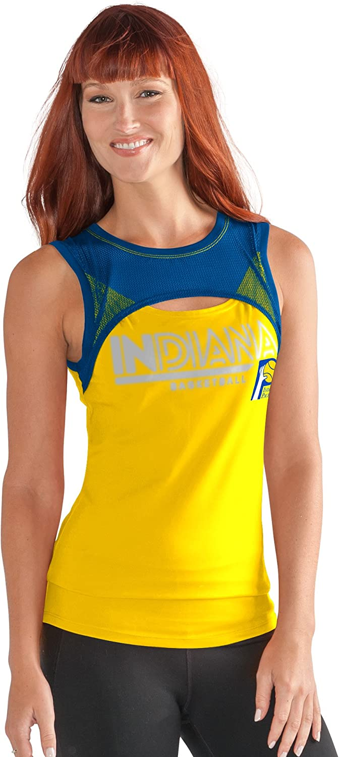Tank Top Gold G-III Sports NBA Indiana Pacers Womens Power Up Large