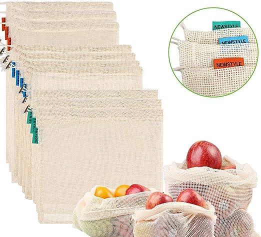 BAIRU Conjunto de 6 Bolsas de Malla de Productos Reutilizables ...