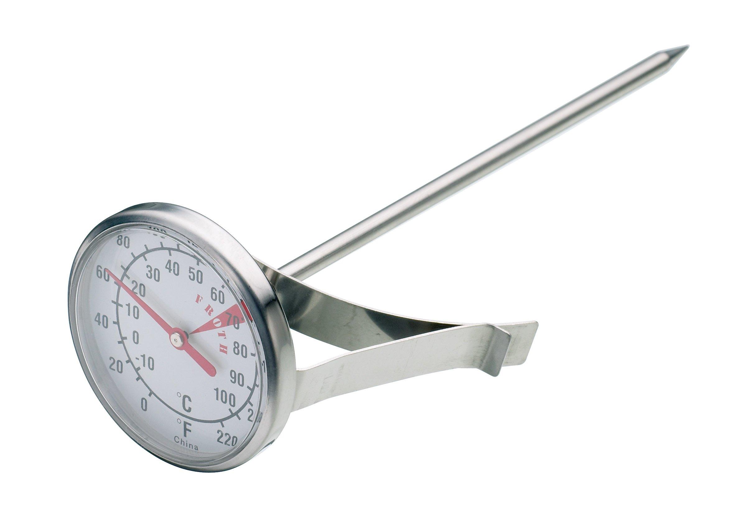 100% Vrai Kitchen Craft Acier Inoxydable Lait Moussant Pour Thermomètre-afficher Le Titre D'origine Sang Nourrissant Et Esprit RéGulateur