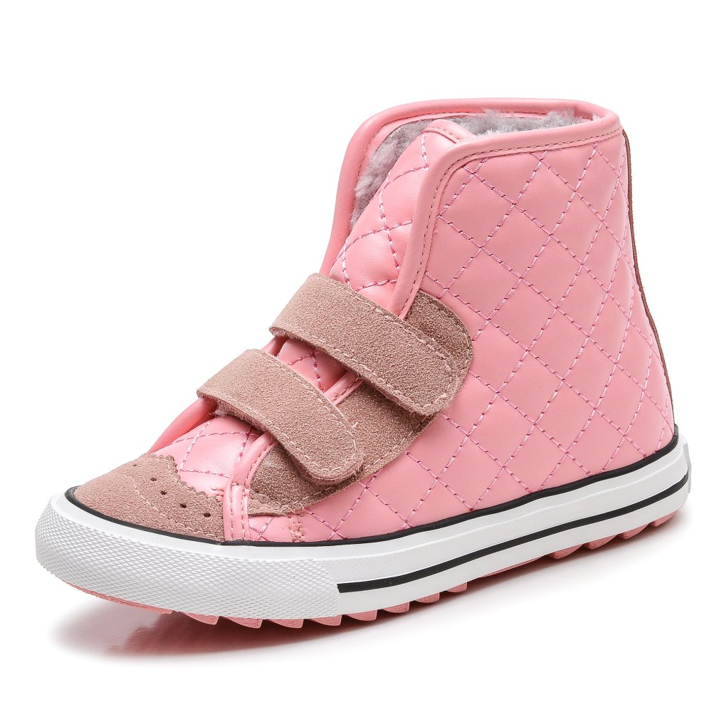 KEESKY Boy's and Girl's Leather Waterproof Boot Pink Toddler Size 9.5