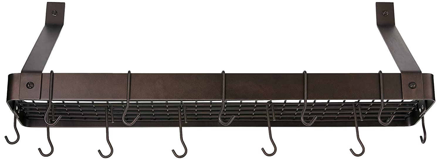 Old Dutch Cookware Rack with Grid Satin Copper