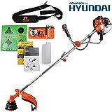 P1PE P5200BC 52 Cc Hyundai Powered Petrol Grass Trimmer and Brushcutter, Orange