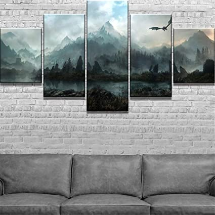 "The Elde Skyrim Scrolls Amazing Photo Canvas Hot sell art Poster 40/""x24/"""