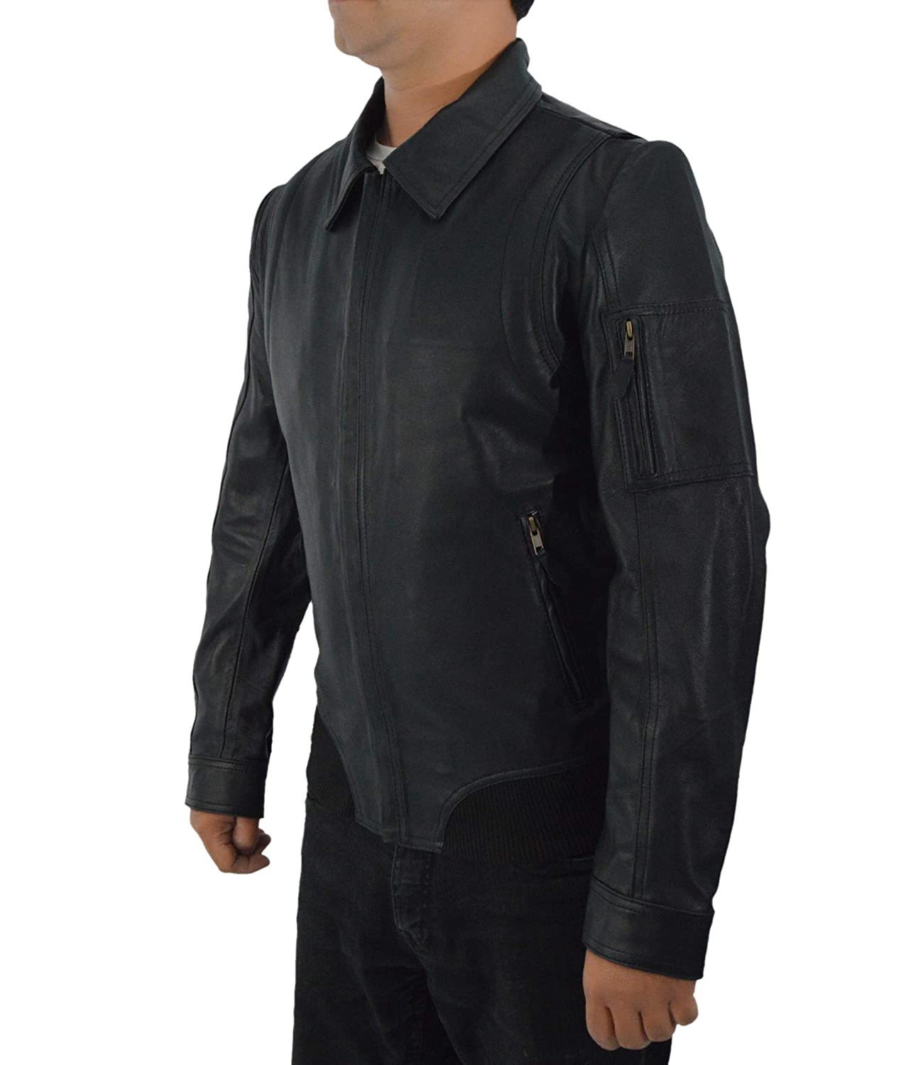31a0386c9 F&H Men's Synthetic Leather Faster The Rock Dwayne Johnson Bomber ...