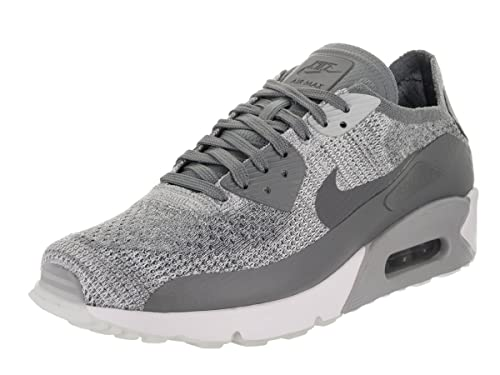 uk availability 02bc0 34a9d Nike Men's Air Max 90 Ultra 2.0 Flyknit, Pure Platinum/Cool Grey-White, 12  M US