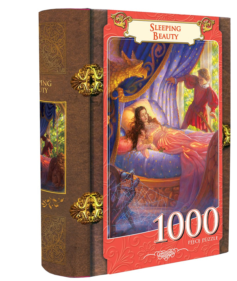 Uncategorized Sleeping Beauty Puzzle amazon com masterpieces sleeping beauty book box assortment jigsaw puzzle 1000 piece toys games