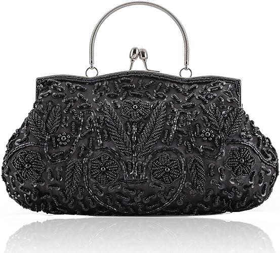Women Rhinestone Bridal Evening Party Clutch Hand Bag Purse Vintage Shoulder Bag