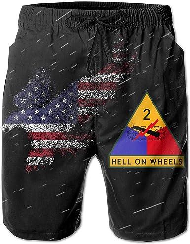 2nd Armored Division Big Men Casual Pants Beach Pants Swimming Trunks Short Pants