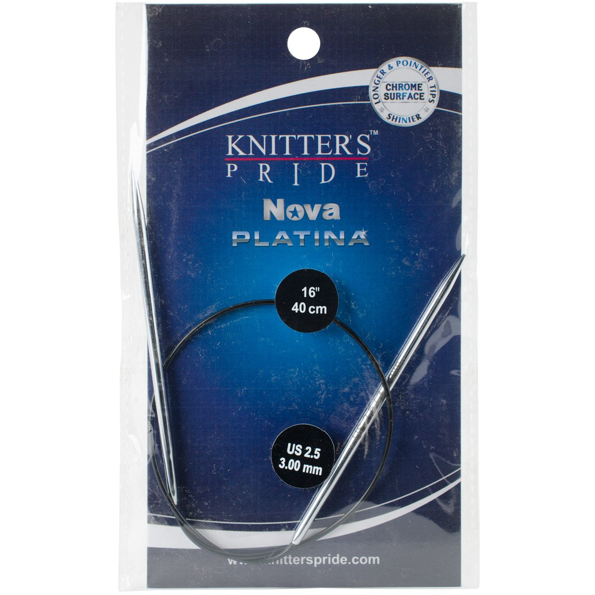 Knitter's Pride 2.5/3mm Nova Platina Double Pointed Needles, 16 by Knitter's Pride B00XUZST3C