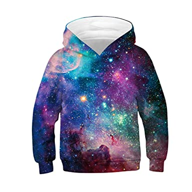 51f4d272b ALISISTER Unisex 3D Hoodies for Kids Funny Printed Pullover Hooded  Sweatshirt Pockets Age 4-16: Amazon.co.uk: Clothing