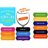 Clingks 12 Drink Markers - ANOTHER YEAR OLDER - Fun Birthday Wine Charms Alternative