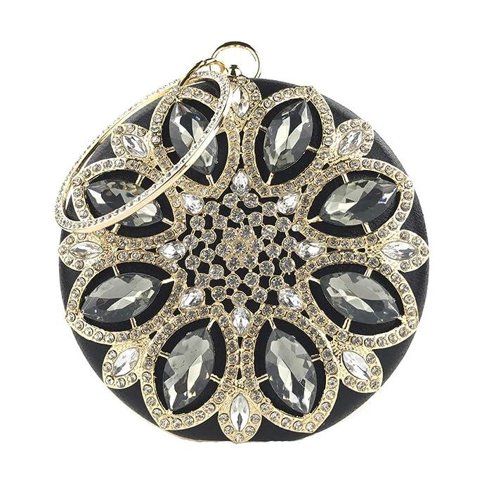 Amazon.com: Chinaware - Bolso redondo de embrague de cristal ...