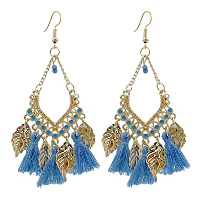 Back To Search Resultsjewelry & Accessories Drop Earrings Nice Fashion Jewelry Statement Tassel Flower Vintage Long Women Bohemian Earrings Ethinic Gold Big Dangle Drop Earrings For Women 100% Original