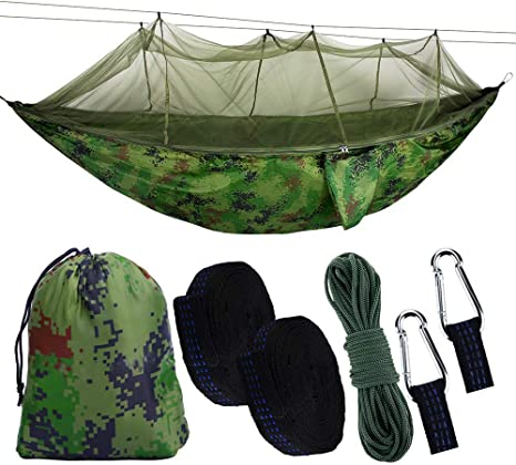 BSTEEN Camping Hammock with Mosquito Net, Portable Hammock