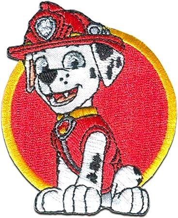 rosso Toppe termoadesive 7x6,2cm Paw Patrol Squadra Dei Cuccioli Marshall /© Spin Master Patch Toppa ricamate Applicazioni Ricamata da cucire adesive